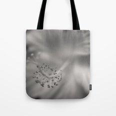 Black and White Hibiscus Tote Bag