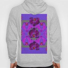Modern  Abstracted Dark Purple Moth Orchids  Lavender Art Hoody