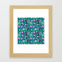 Tropical Toucan Jungle Framed Art Print