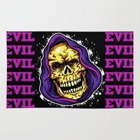 resident evil Area & Throw Rugs featuring EVIL by DesecrateART (Infected)