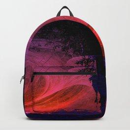 Fiery fractal sunset Backpack