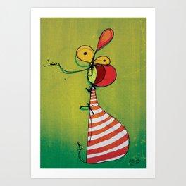 Ballon Man Art Print