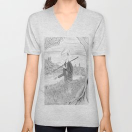 Tramp in search of identity Unisex V-Neck