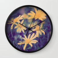 woodstock Wall Clocks featuring Woodstock Daisy  by Scotty Photography