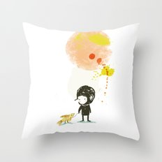Lester, take a walk. Throw Pillow