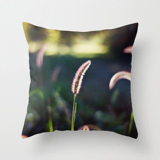 Autumn Grass II Throw Pillow