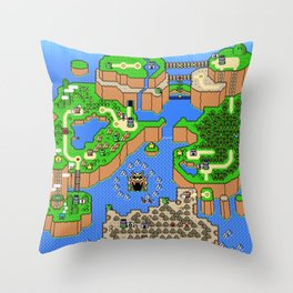 The World of Super Mario Throw Pillow