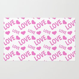Love Heart Pink Rug