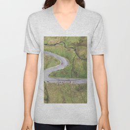 Hairpin bends on Glengesh Pass, Donegal Unisex V-Neck