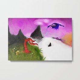 art print fantasy painting dragon Metal Print