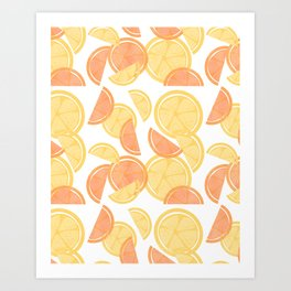 14 Citrus Showers Art Print