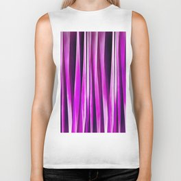 Plum Purple and and Burgundy Stripy Lines Pattern Biker Tank