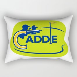 Caddie and Golfer Golf Course Icon Rectangular Pillow