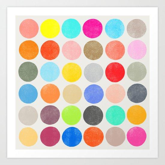 colorplay 1 sq Art Print