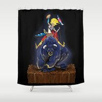 bull Shower Curtains featuring Bull by (Tak)