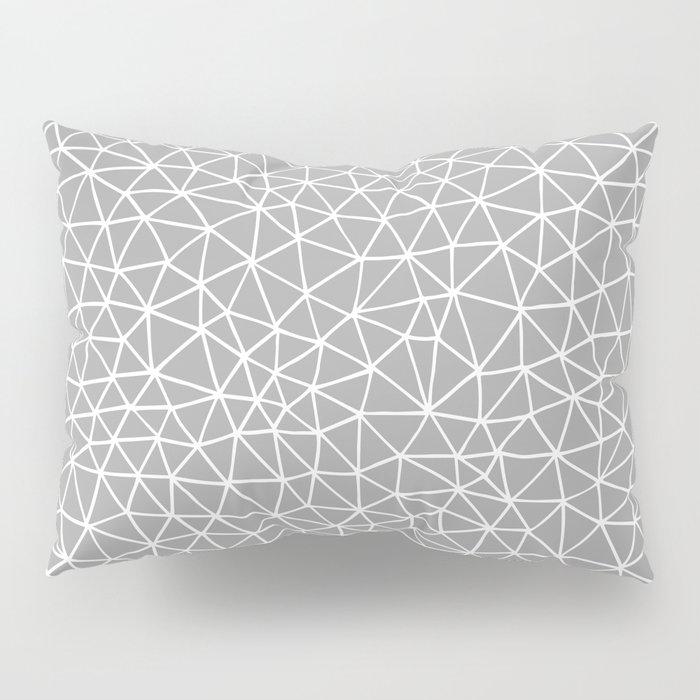 Connectivity - White on Grey Pillow Sham