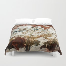 Coffee Stained Parchment Paper Duvet Cover