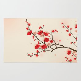 Oriental plum blossom in spring 009 Rug