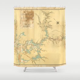 Map of the Proposed Panama Canal (1906) Shower Curtain