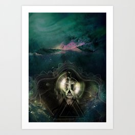 Encircles the world Art Print