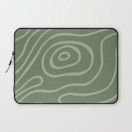 Topographic Map / Grayish Green Laptop Sleeve