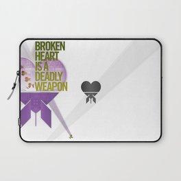 Broken Heart Is A Deadly Weapon Laptop Sleeve