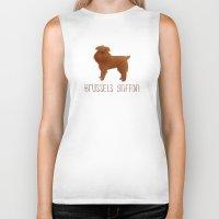 brussels Biker Tanks featuring Brussels Griffon by 52 Dogs