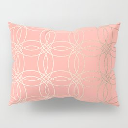Simply Vintage Link in White Gold Sands and Salmon Pink Pillow Sham