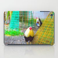 chicken iPad Cases featuring chicken by aticnomar