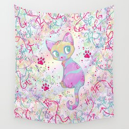 Mystical Little Kitty Wall Tapestry