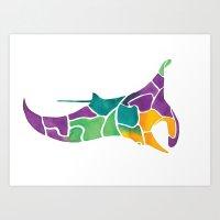 Manta Ray Art Print