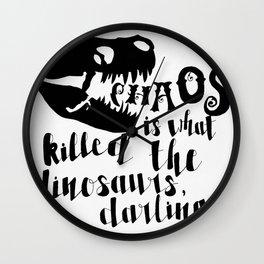 Dinosaur Killer Wall Clock