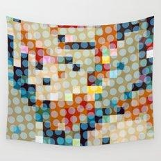 dots meet pixels Wall Tapestry