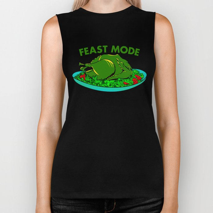 Feast Mode Thanksgiving Biker Tank