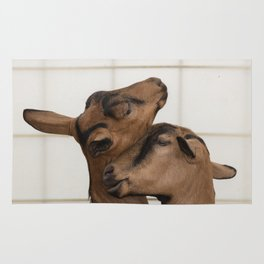 goat in the farm Rug