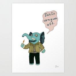 Farts Conquer All Art Print