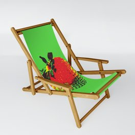 Strawberry Green - Posterized Sling Chair