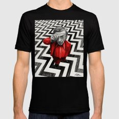 Homage to Twin Peaks - Fire walk with me Mens Fitted Tee LARGE Black