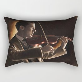 The Violinist Rectangular Pillow