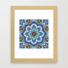 Fantasy flower in purple and blue Framed Art Print