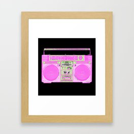 black boom box Framed Art Print