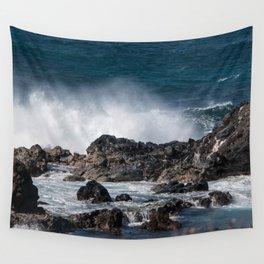 Lava Rock Ocean Spray Wall Tapestry