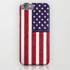 Crayon version of the America national flag Slim Case iPhone 6s