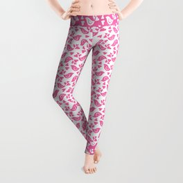 Pink Love Birds Leggings