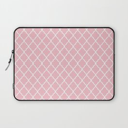 Moroccan Trellis, Latticework - Pink White Laptop Sleeve
