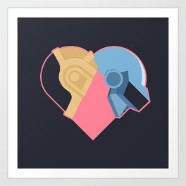 Daft Love Art Print