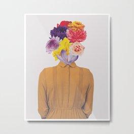 FlowerHead I | Collage Metal Print
