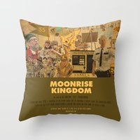 wes anderson Throw Pillows featuring Moonrise Kingdom - Wes Anderson by Smart Store