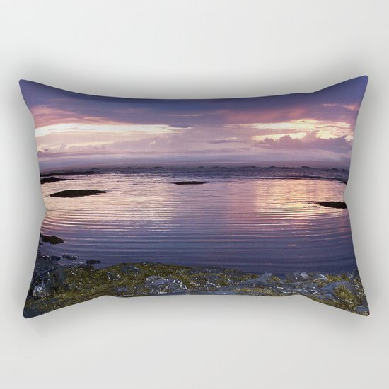 Sunset Split Rectangular Pillow