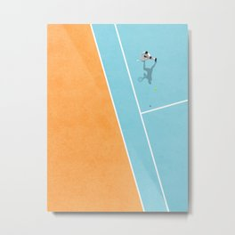 Tennis Court Colors  Metal Print